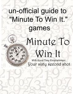 Minute to Win It games (great ideas to incorporate with team CC review)