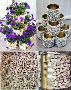 Diy garden decor, Diy home decor projects, Diy garden, Garden crafts, Diy hom. Diy Crafts Slime, Slime Craft, Diy Crafts Hacks, Garden Crafts, Diy Garden Decor, Garden Projects, Diy Projects, Tin Flowers, Flower Boxes
