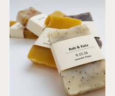 Rustic looking handmade soap ~ we ❤ this! moncheribridals.com