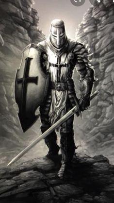 Medieval Tattoo, Medieval Armor, Knight Sword, Knight Art, Knights Hospitaller, Knights Templar, Templar Knight Tattoo, Armor Of God Tattoo, St Michael Tattoo