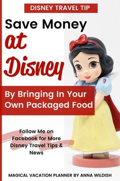 It is completely okay to bring outside food into Disneyland and Disney World, as long as it is packaged. Ziploc bags count! Bringing in your own snacks or even lunch is a great way to save money on your Disney vacation. Follow me on Facebook for more Disney travel tips and news. Disney World Vacation Planning, Disney World Hotels, Disney World Restaurants, Vacation Planner, Disney Travel, Disney Cruise Line, Disneyland Resort Hotel, Disneyland Vacation, Disney Vacations