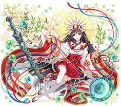 というわけで明日の精霊降臨祭でゲットできる精霊さんダン! スーパー輝かしいアマテラスたんダンヽ( ゚д゚ )ノ まぶしいいいいいいダン!! #どこダン