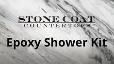 Stone Coat Countertop, Epoxy Countertop, Countertops, Shower Kits, Barn, Decor Ideas, Coats, Bathroom, Life