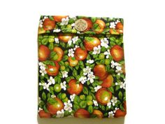 Microwave Potato Bag  Apple Blossoms/ Apple Red by bagsbyhags45, $10.00