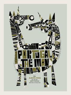 Portugal. The Man, poster by Methane Studios via http://methanestudios.com/