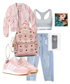 """90s Aaliyah"" by brownsharde on Polyvore featuring Calvin Klein, Hollister Co., adidas Originals, MCM, Lydell NYC and adidas"