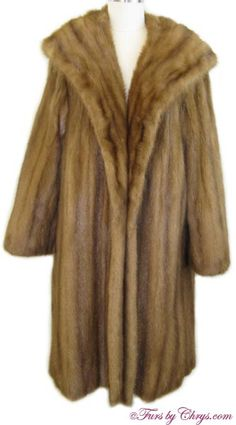 SOLD! Whiskey Mink Coat #WM820; Very Good Condition; Size range: 8 - 14. This is a beautiful genuine whiskey mink fur coat. It has a Mano Swartz label and features a very generous shawl collar and straight sleeves. When the cold winds blow, you will be thankful to be wearing this warm and luxurious whiskey mink coat! Mink Coats, Mink Fur, Fur Coat, Whiskey, Shawl, Label, Thankful, Range, Women's Fashion