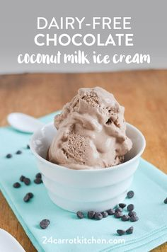 How to make amazing, dairy-free, vegan chocolate coconut milk ice cream! So creamy, delicious and easy to make! Just a few ingredients are needed for this vegan and Paleo treat! Paleo Ice Cream, Milk Ice Cream, Dairy Free Ice Cream, Homemade Ice Cream, Ice Cream Recipes, Coconut Cream, Dairy Free Chocolate, Chocolate Recipes, Vegan Chocolate