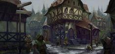 fantasy tavern exterior Google Search Fantasy town Fantasy city Fantasy concept art