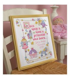 Bucilla-Princess Birth Record Counted Cross Stitch Kit-10 X13 14 Count at Joann.com