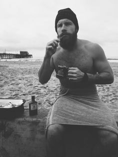 post morning swim: jameson & coffee, and bacon// 27, CA. http://organicbeard.tumblr.com/