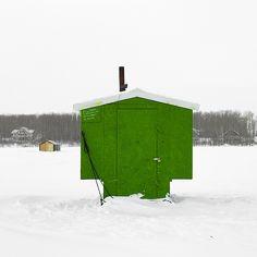 Ice Huts by Richard Johnson