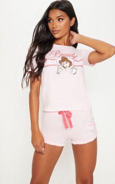 dedf12869ac4 The Pale Pink Disney Beauty Short Pj Set. Head online and shop this  season s range. prettylittlething.com