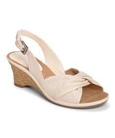 Love this Cream Zenthusiasm Slingback Sandal by Aerosoles on #zulily! #zulilyfinds