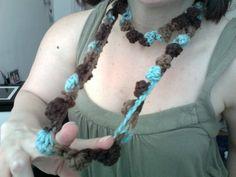 Easy Textured Crochet Bobble Necklace