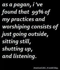 As a pagan
