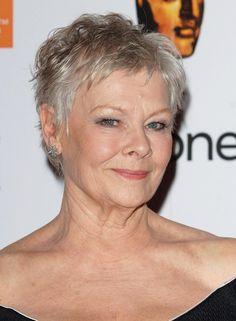 Dame Judi Short Haircut for Women Over 50
