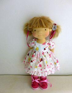 Вальдорфская кукла Аленка 18 по Dearlittledoll на Etsy: