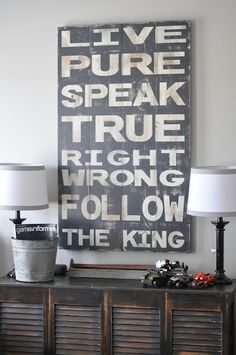 Our new sign for the boys' room!!! our-house