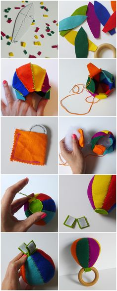 Tutorial to make a felt DIY Maraca Baby Rattle - Great craft project for Cinco de Mayo - by Yay for Handmade! Easy Diy Crafts, Baby Crafts, Felt Crafts, Diy Crafts For Kids, Sewing Toys, Baby Sewing, Diy Wedding Games, Sewing Projects, Craft Projects