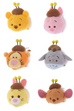 Honey Bee Tsum Tsum Collection - Winnie the Pooh, Piglet, Tigger, Eeyore, Rabbit, and Roo