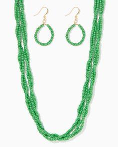 charming charlie | Sarai Seed Bead Necklace Set | UPC: 410007586092 #charmingcharlie