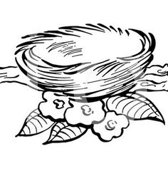 bird-nest-coloring-picture Bird Coloring Pages, Coloring Pages For Kids, Coloring Books, Bird Drawings, Animal Drawings, Nest Images, Beautiful Flower Drawings, Bird Template, Apple Coloring