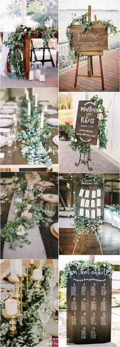 40 Greenery Eucalyptus Wedding Decor Ideas Eucalyptus green wedding color ideas / www.deerpearlflow The post 40 Greenery Eucalyptus Wedding Decor Ideas appeared first on Hochzeit ideen. Wedding Themes, Wedding Signs, Wedding Table, Wedding Colors, Rustic Wedding, Wedding Ceremony, Our Wedding, Wedding Ideas, Trendy Wedding