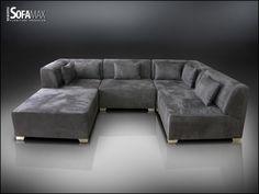 Deep Couch Sectional, Couches, Bedroom Sofa, Living Room Sofa, Minimalist Interior, Modern Minimalist, Sofa Inspiration, Gray Sofa