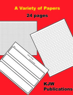 FREE  -  24 pages - Black lines for lined handwriting paper, story paper, comic strip paper, graph paper, music paper, grid paper, name tags, math answer pa...