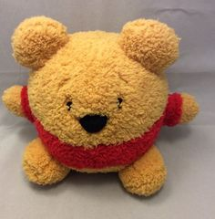 "Disney Resorts World Disneyland Round Soft Winnie Pooh Stuffed Animal Plush 8"" #Disney"