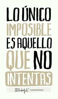 ....LO ÚNICO IMPOSIBLE.....!!@Torreperogil  #Fisiobian  #fisioterapia  #Osteopatia  #Salud  #Nutrición