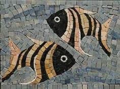 Resultado de imagen para FIGURAS DE MOSAICOS EN PECES Mosaic Tile Art, Mosaic Artwork, Pebble Mosaic, Mosaic Crafts, Mosaic Projects, Mosaic Glass, Glass Art, Mosaic Planters, Mosaic Flower Pots