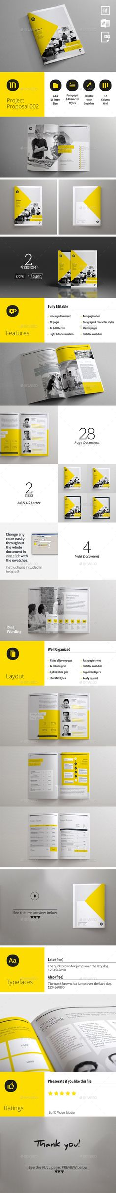 Project Proposal Template 002 (CS, 8.27x11.02, a4, agency, agreement, brief, business, clean, contract, corporate, creative, customizable, design, document, estimate, form, graphic, identity, indesign, introduction, invoice, layout, modern, print, professional, project, proposal, quotation, quote, sharp, template, typographic)