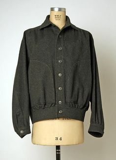 Jacket, wool, Yves Saint Laurent designer for Rive Gauche, French, 1970s