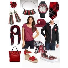 """Crimson & Black - Team Spirit - Crimson Tide"""