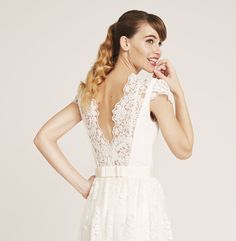 Our lovely Keera Bride Top with beautiful tulle lace embroidered with glass beads Tulle Lace, Bride, Wedding Dresses, Skirts, Inspiration, Glass Beads, Beautiful, Collection, Tops