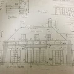 Working drawings for a small Regency villa we recently started here in Birmingham. Limestone trim and a slate roof are a great combination. Architecture Drawings, Classical Architecture, Architecture Plan, Architecture Details, European Style Homes, French Style Homes, Architectural Prints, Architectural Elements, Architectural Presentation