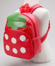 Take a look at this Strawberry Vinyl Backpack by Pack it Up: Kids' Bags on #zulily today!