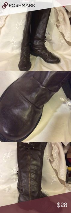 MIA tall brown zip up boots NWOT In excellent condition, I wore them once. MIA Shoes Over the Knee Boots