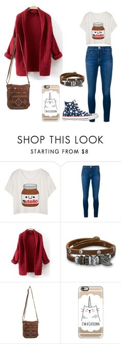 """""""Casual"""" by katerinatugulea ❤ liked on Polyvore featuring Frame Denim, BillyTheTree, UNIONBAY, Casetify and Converse"""