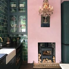 This recently opened devol kitchens showroom is an absolute joy of colour and styling. I want the pink & green in my kitchen