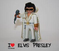 Los grupos de música más famosos de la historia, versión playmobil: ELVIS PRESLEY