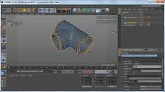 Modeling a t-connection pipe in Cinema 4D