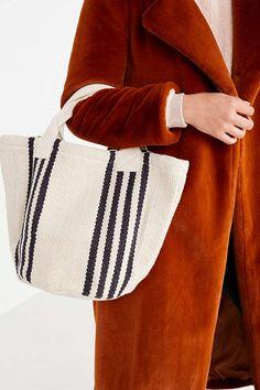 Yarn Dye Stripe Mini Tote Bag