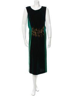 Alberta Ferretti Velvet Midi Dress $145.00L US10, IT46