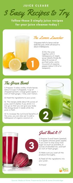 3 easy juice recipes to try today !! Fruit and Vegetable Recipes for health, vitality, weight loss and more. Learn everything there is to know about Green Juices as well as get access to more recipes today via The Juice Chief.