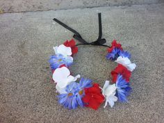 Patriotic Red White and Blue Floral Headband/ by DevineBlooms, $13.00