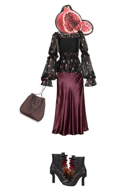 """""""Pomegranate"""" by diannecollier ❤ liked on Polyvore featuring CITYSHOP, Dolce&Gabbana, The Row, Marco de Vincenzo and Alexander Wang"""
