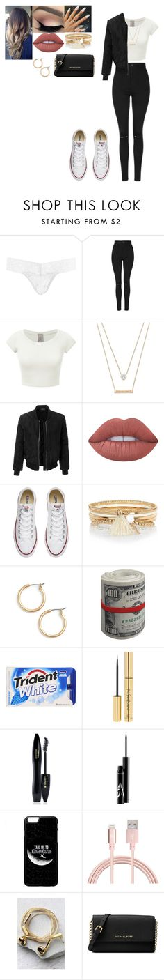 """""""Going out for pizza"""" by love-5secondsofsummer ❤ liked on Polyvore featuring Hanky Panky, Topshop, Michael Kors, LE3NO, Lime Crime, Converse, River Island, Nordstrom, Yves Saint Laurent and Lancôme"""
